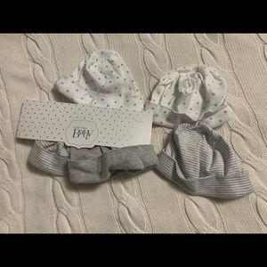 Nordstrom Baby Hats Grey White One Size (5)